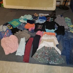 Lots of girls clothing